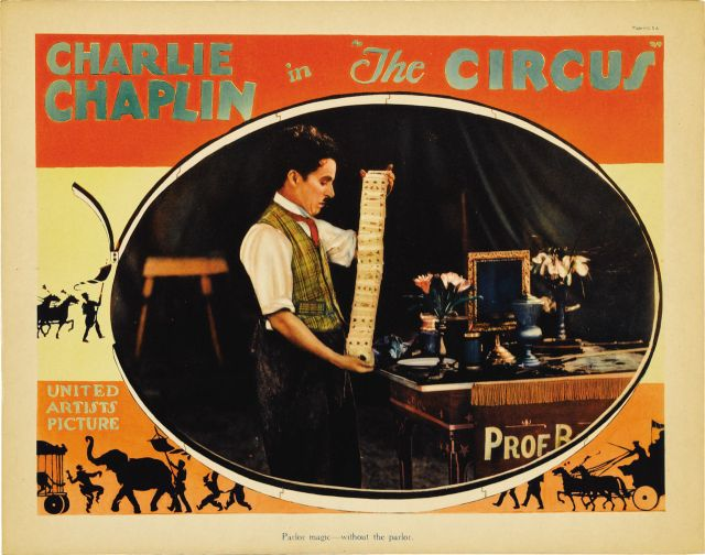 CHARLIE CHAPLIN THE CIRCUS (lobby card)