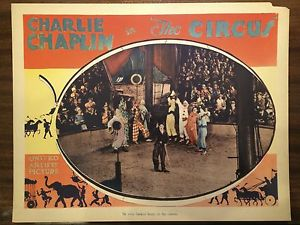 CHARLIE CHAPLIN THE CIRCUS lobby card.