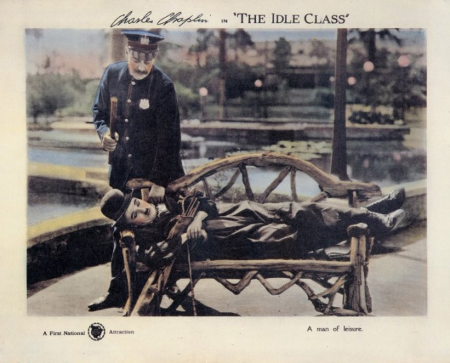 Charlie Chaplin The Idle Class lobby card 1921