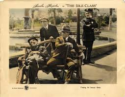 Charlie Chaplin The Idle Class (lobby card)