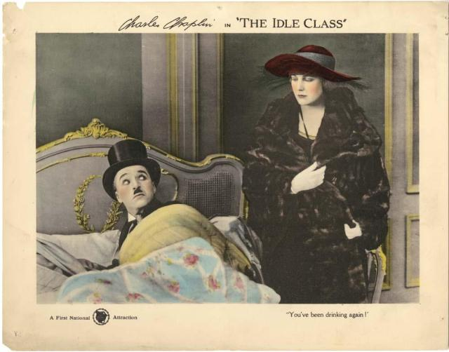 Charlie Chaplin The Idle Class lobby card