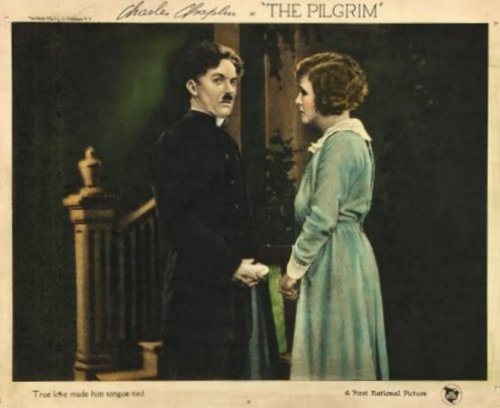 Charlie Chaplin The Pilgrim (1923) lobby card