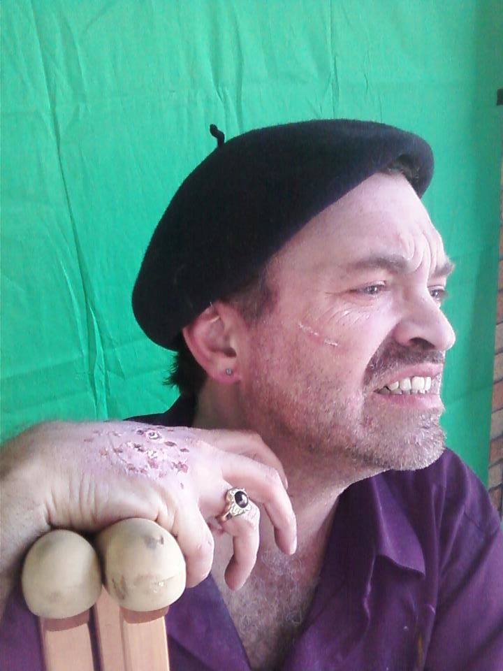 Alfred Eaker as Gauguin (ravaged by syphilis) in La lontananza nostalgica utopia futura.