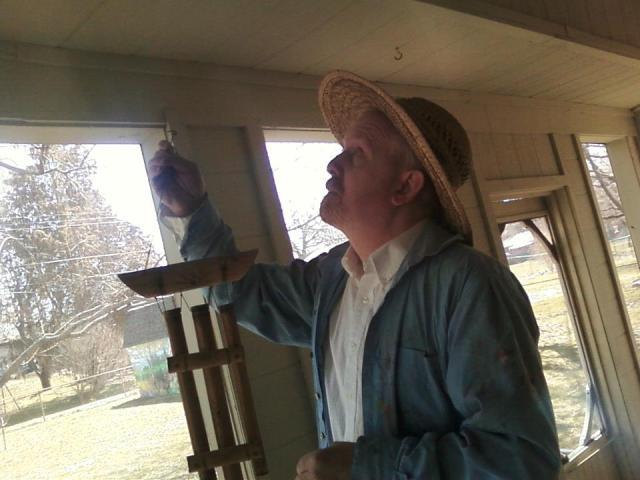 James Mannan as Van Gogh in La lontananza nostalgica utopia futura.