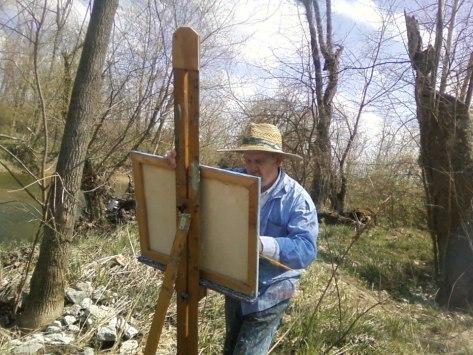 James Mannan as Vincent Van Gogh,  in La lontananza nostalgica utopica futura