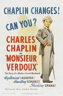 Charlie Chaplin Monsieur Verdoux (poster)