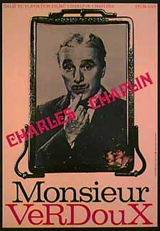Charlie Chaplin Monsieur Verdoux poster.
