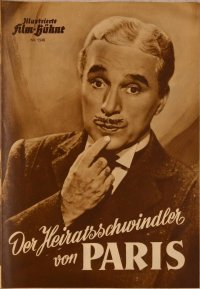 Charlie Chaplin Monsieur Verdoux program