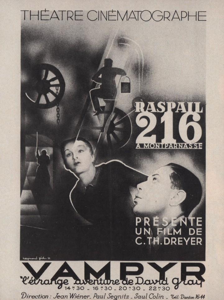 Vampyr (1932) poster. Carl Theodore dreyer