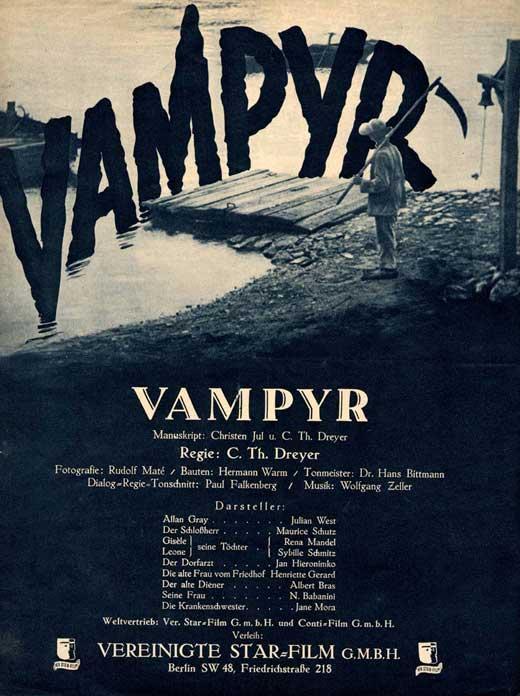Vampyr (1932)  poster
