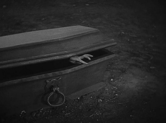 Dracula coffin hand