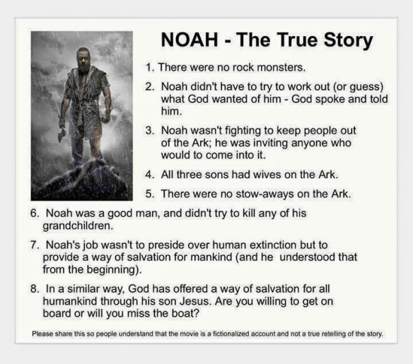 NOAH ANTI MOVIE PROPAGANDA