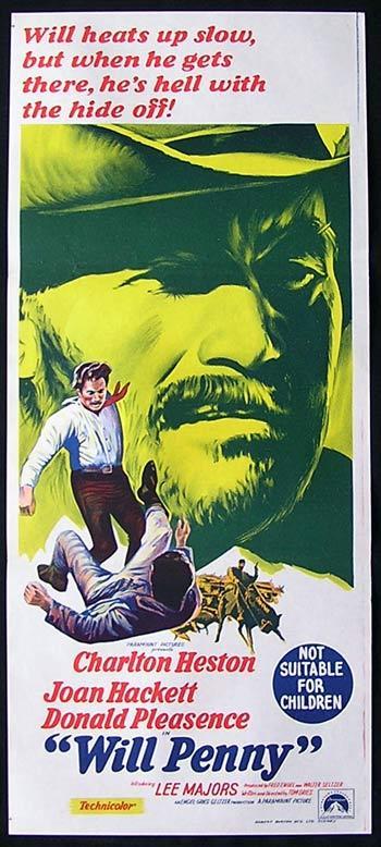 WILL PENNY Heston Hackett Poster