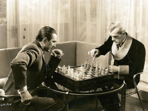 THE BLACK CAT 91934) DO YOU DARE PLAY CHESS WITH ME, FOR HER?