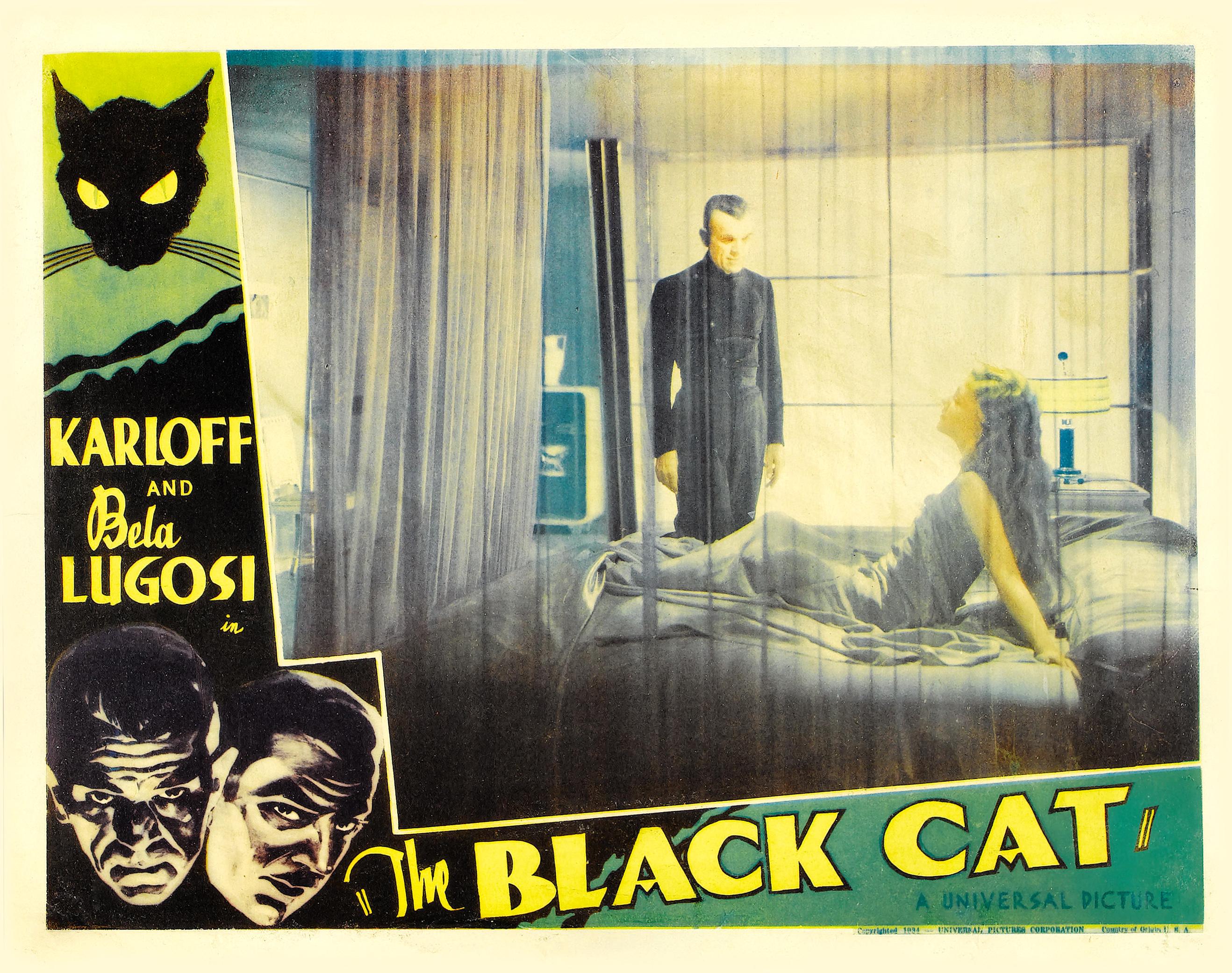 THE BLACK CAT LOBBY CARD