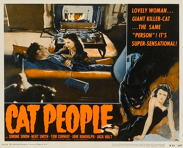 1942 LOBBY CARD CAT PEOPLE