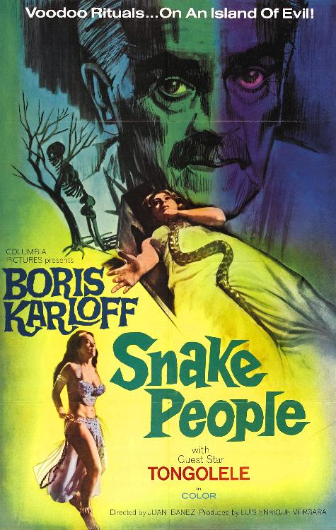 BORIS KARLOFF SNAKE PEOPLE POSTER