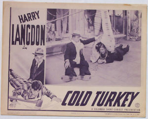 COLD TURKEY HARRY LANGODN LOBBY CARD