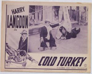 COLD TURKEY HARRY LANGODN LOBBY CARD