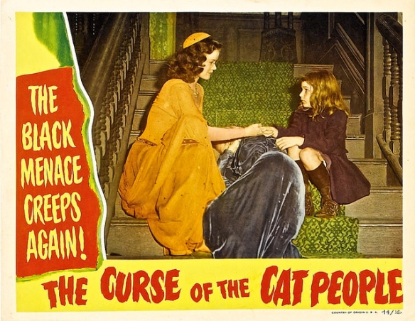 Curse Of The Cat People (1944) lobby card. Simone Simon