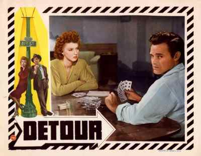 Detour (1945) lobby card. Tom Neal Ann Savage