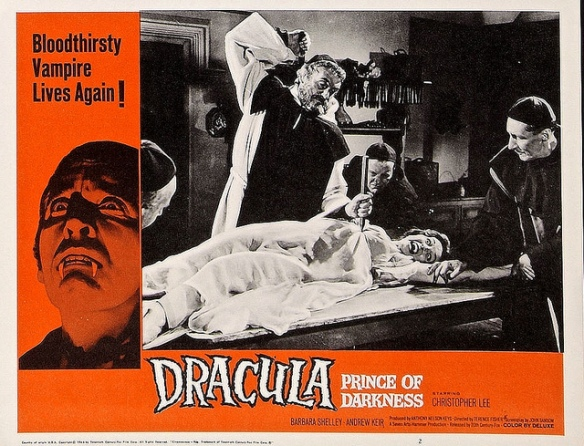 Dracula, Prince of Darkness (1965 dir, Terence Fishher) Barbara Shellet. Lobby card