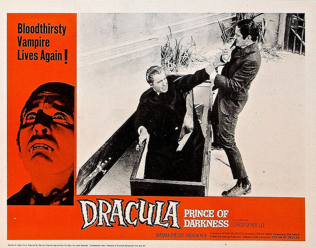 DRACULA, PRINCE OF DARKNESS (1965) LOBBY CARD. CHRISTOPHER LEE
