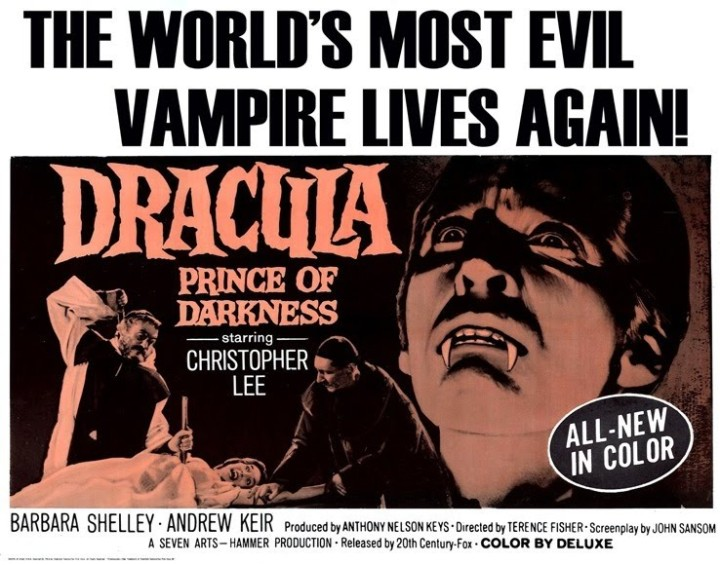 DRACULA, PRINCE OF DARKNESS (Dir. Terence Fisher) Poster