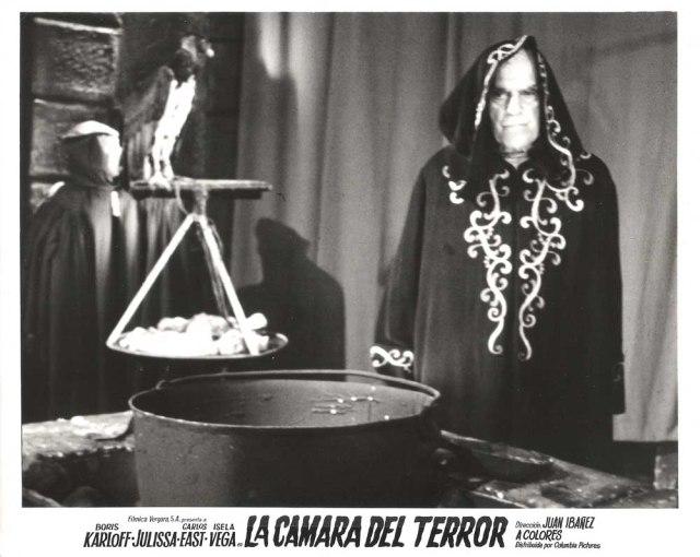 FEAR CHAMBER LOBBY CARD BORIS KARLOFF