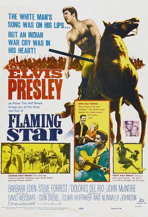Flaming Star Elvis POSTER