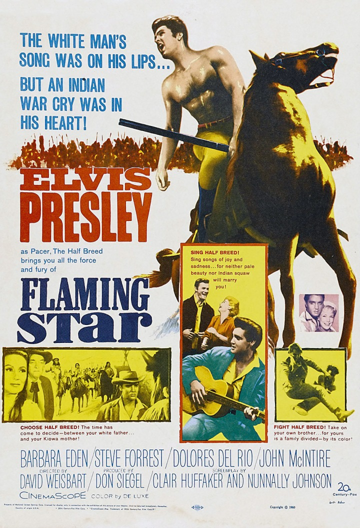 Flaming Star Elvis POSTER