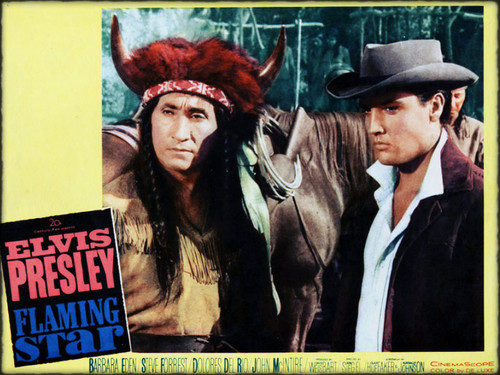 FLAMING STAR LOBBY CARD