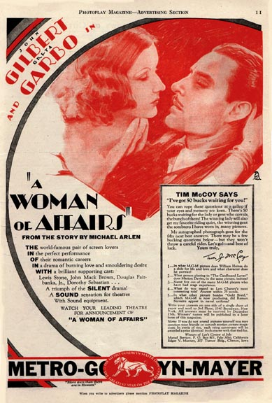 GARBO A WOMAN OF AFFAIRS POSTER