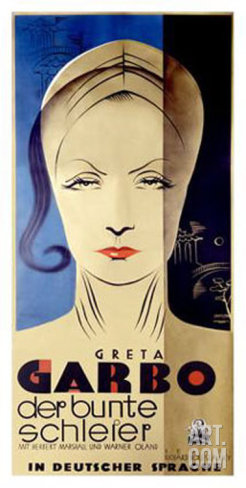 GARBO PAINTED VEIL POSTER