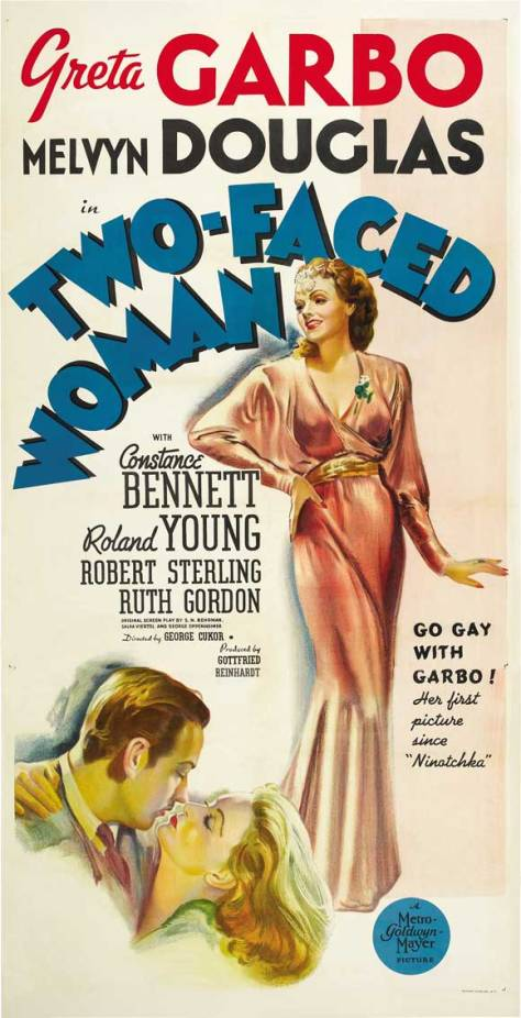 GARBO TWO-FACED WOMAN POSTER