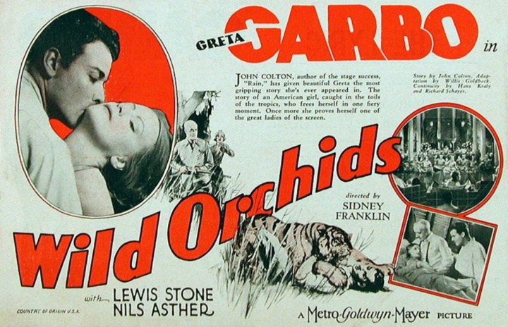 GARBO WILD ORCHIDS POSTER