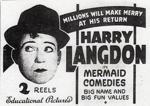 HARRY LANGDON NEWS AD