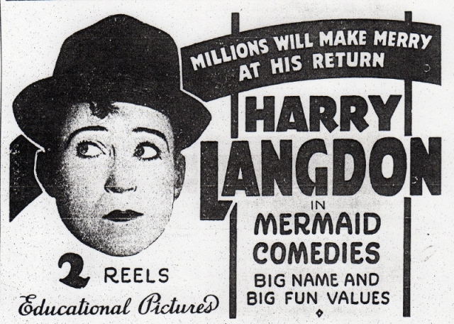 HARRY LANGDON NEWS AD