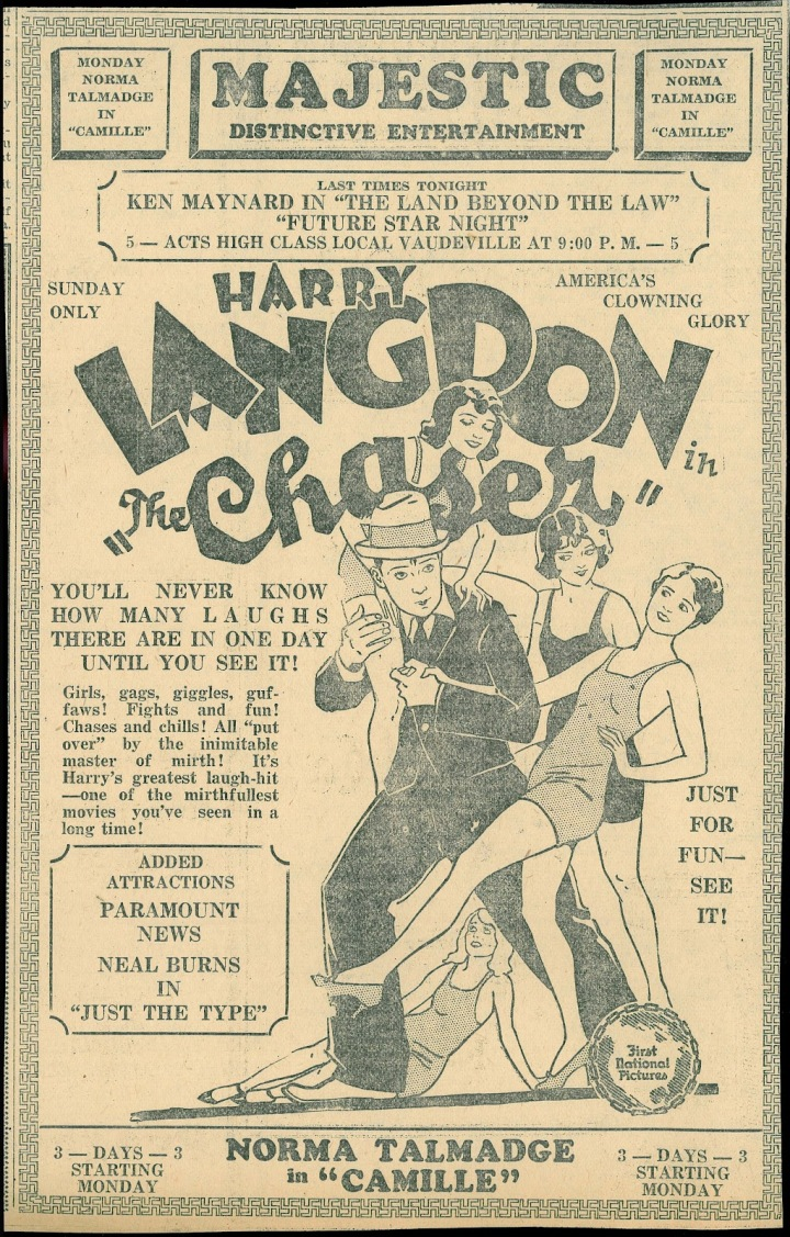 HARRY LANGDON THE CHASER NEWS AD