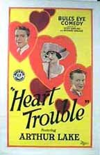 HEART TROUBLE 1928 POSTER (LOST HARRY LANGDON FILM)
