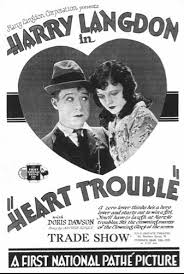 HEART TROUBLE 91928) POSTER LOST HARRY LANGDON FILM