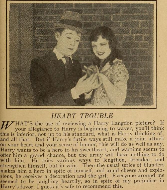 HEART TROUBLE NEW AD (HARRY LANGDON)
