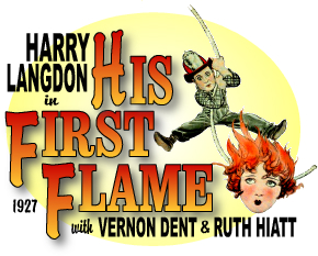 HIS FIRST FLAME 1927 POSTER HARRY LANGDON