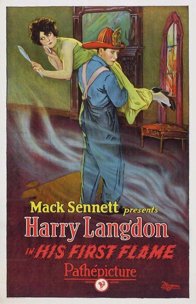 HIS FIRST FLAME POSTER HARRY LANGDON