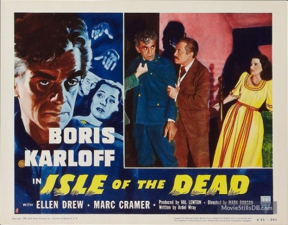 Isle of the Dead (1945) lobby card. Boris Karloff