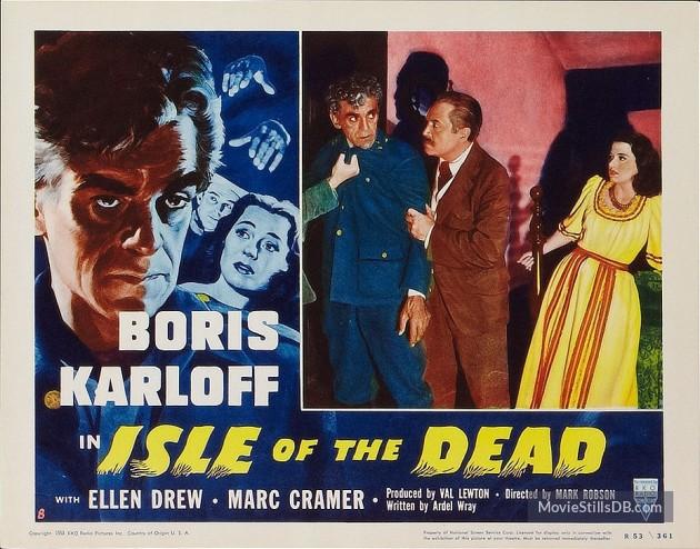 Isle of the Dead (1945) lobby card. Boris Karloff