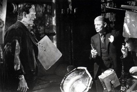 James Whale and Karloff on Bride