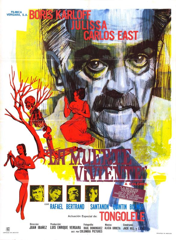 KARLOFF SNAKE PEOPLE POSTER