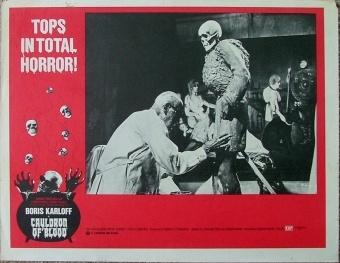 lobby card color BORIS KARLOFF CAULDORN OF BLOOD