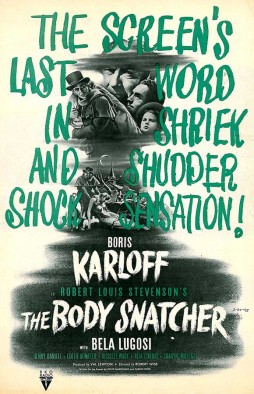 THE BODY SNATCHER 1945 half sheet Boris Karloff